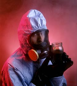 hazmat cleanup worker