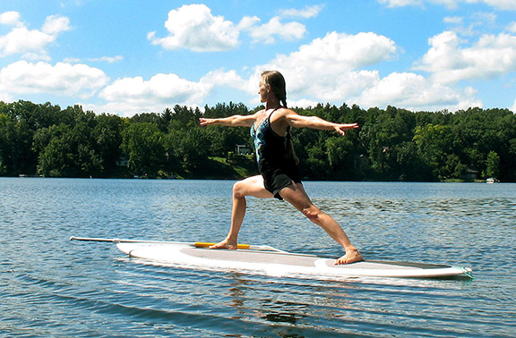 Paddleboard yoga photo